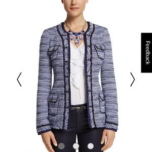 Tweed Black Blue & White Jacket